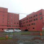 稚内グランドホテルの全景(裏側の駐車場から撮影)