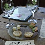 McGregor Winery gives you a delicious assortment of cheese, crackers etc. to enhance your tastin