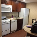 Our surprisingly spacious suite at Comfort Inn, W. Springfield, MA