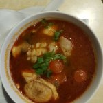 Tom Yam soup with multiple seafood