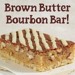 With sweet bourbon drizzle!
