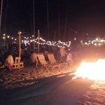 Bonfire next door on a Thursday night