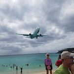 Famous St-Martin beach and airport