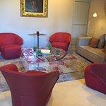 Petit salon dans la partie historique de l'hôtel