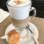 Kenia makes the BEST cappuccino.... Visit her in the Lobby Bar!