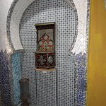 Moroccan Tiled Fountain in Hallway