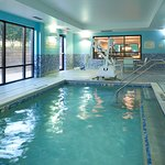 Enjoy a refreshing dip or watch the kids make a splash in the indoor pool.