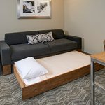 Relax on our new West Elm sofas or pull-out the trundle bed to make room for one more guest.