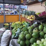 All kinds of fruit and vegetables are available.