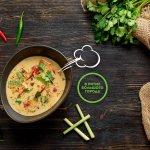 Легендарный тайский суп на кокосовом молоке Том-ям с диким лососем
