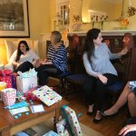 Another view of the baby shower n full swing.