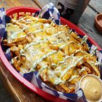 The famous Dirty Dirty Fries ( - the pulled pork)