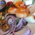 Shrimp Caesar Salad-Incredibly flavorful, perfectly dressed, Grilled Shrimp Salad-Very Tender Gr