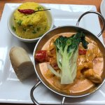 A delicious Thai chicken curry.