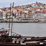 Vila Nova de Gaia, Porto, just across is GHD (yellow doors/black upper floors)