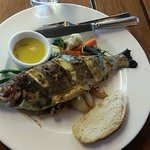 Wood oven baked trout