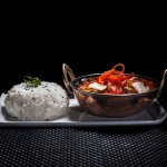 Siam Bar & Restaurant - Red Duck Curry with Jasmine Rice