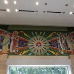 Mural above the entrance