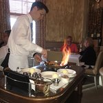 Traditional Bananas Foster - prepared at tableside - great show!