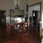 Dining area where breakfast is served or guests can gather. Floors are kept impeccable!