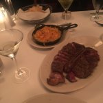 Porterhouse steak perfectly cooked medium rare to rare