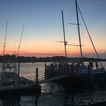 sag harbor at sunset: just a few moments stroll from the restaurant