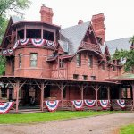 The Mark Twain House designed by Edward Tuckerman Potter in the American High Gothic Style (1874