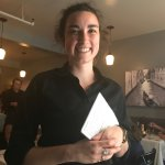 A happy server makes for a special meal ..... does Joanna look happy to you?