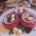 Tomatoes and bocconcinis