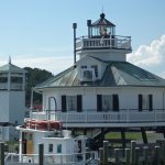 The lighthouse in St. Michaels; view from the boat.