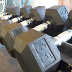 Gym (Maximun weight on free weights).