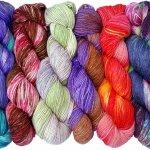 Ten Good Sheep hand dyed yarns in luxury fibers