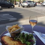Croque Monsieur with salad and fries
