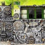 grafiti cerca a la plaza del chorro de quevedo