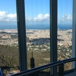 View from the observation deck: Barcelona and the Mediterranean