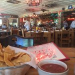 Cool decor, awesome warm chips, zesty salsa
