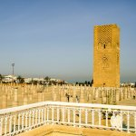 The Unfinished Hassan Tower And Associated Mosque As Seen From The Mausoleum of Mohammad V