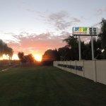 Sunrise at the Caravan Park