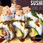•Martes 2x1 en Sushi• Mas de 20 tipos de rollos, todos preparados con productos 100% frescos.