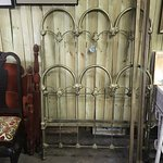 Solid heavy iron bed with rails!