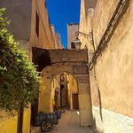 Charming alley leading to the Riad