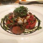 caprese salad with fresh buffalo mozzarella
