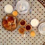 Lovely breakfast served wherever you want in the Riad