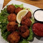 Excellent conch fritters