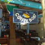 coffee boat in Sairee, Koh Tao