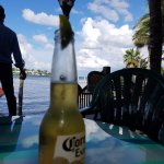 Classic tiki bar on the busy Jupiter Inlet