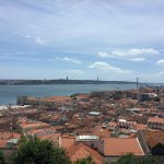 Vista from the top of the Castle of Jorge