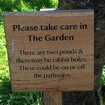 Sign in the garden