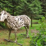 """Drifter"" - a horse made from driftwood"