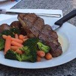Steak dinner, Manyana Restaurant 1160 King George Blvd | At the Pacific Inn, Surrey, British Col